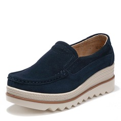 Женщины Замша Вид каблука Платформа Танкетка обувь