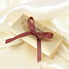 Classic Card Paper Favor Boxes With Ribbons (Set of 12)