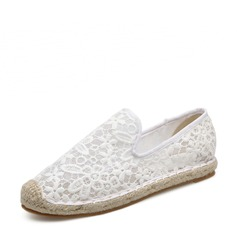 Women's Lace Flat Heel Flats Closed Toe With Others shoes