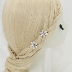 Lovely Cristal/Liga Grampos de cabelo (Conjunto de 2)