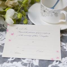 Blommig Stil Enkla kort Invitation Cards (Sats om 50)
