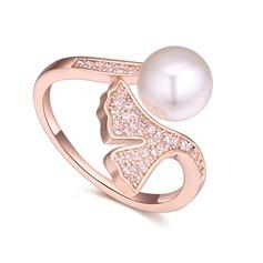 фешенебельный медь/Циркон с Цирконий женские кольца
