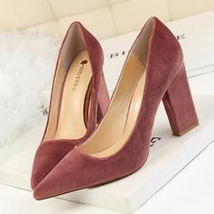Women's Suede Wedge Heel Pumps Closed Toe shoes