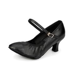 Женщины Натуральня кожа На каблуках На каблуках Бальные танцы с пряжка Обувь для танцев