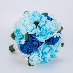 Simple And Elegant Free-Form Foam Bridal Bouquets -