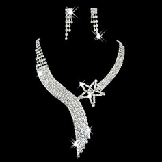 Gorgeous Alloy/Rhinestones Women's Jewelry Sets (011006979)