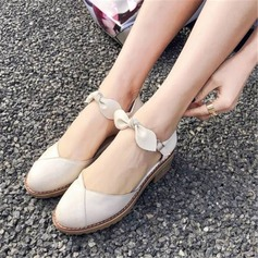 Mulheres PU Salto robusto Sandálias Fechados أحذية
