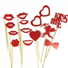 Cupid Card Paper Photo Booth Props (14 Pieces)