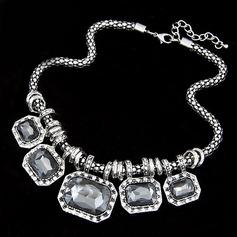 Gorgeous Legering med Oäkta Kristall Damer' Mode Halsband
