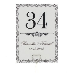 Personalizado Artístico Papel Pérola Número da mesa Cartões (Conjunto de 10)