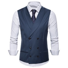 Modern Polyester Viskose Mænds Vest