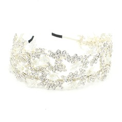 Ladies Exquisite Rhinestone/Alloy Headbands With Rhinestone