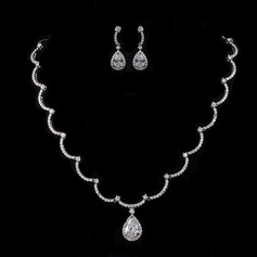 Gorgeous Zirkon/Platina Damer' Smycken Sets