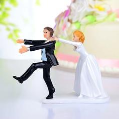 Engraçados e Relutante Resina Casamento Decorações de bolos