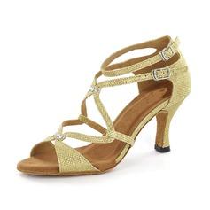 Femmes Pailletes scintillantes Sandales Escarpins Latin avec Ouvertes Chaussures de danse