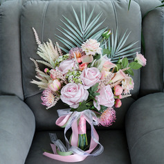Pretty Free-Form Silk Flower Bridal Bouquets - Bridal Bouquets