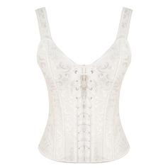 Femmes Lune de miel/Style Classique Polyester Cinchers à la taille/Corset avec Jacquard Corsets
