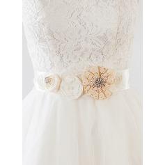 Gorgeous Ribbon Sash With Flower/Lace/Rhinestones/Imitation Pearls