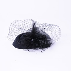 Elegant Rhinestone/Silk Flower Fascinators