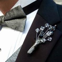 Klassisk stil Hand Bundna Kristall Boutonniere För/Damväskor