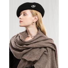 Solid färg Hals/överdimensionerad/mode Ull Halsduk