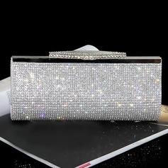 Luminoso Cristal / Strass Embreagens/Moda Bolsas (012103345)