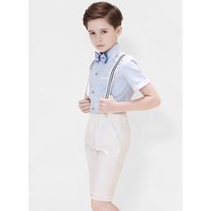 Ragazzi 4 pezzi Stile Formale Abiti per Paggetti /Page Boy Suits con Camicia ciclo continuo Bretella Pantaloncini