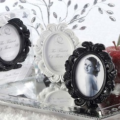 Elegant Round Resin Place Card Holders/Photo Frames (Set of 6)