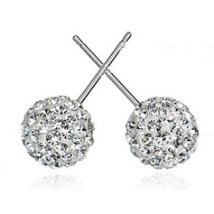 Elegant Alloy/Sterling Silver With Cubic Zirconia Earrings