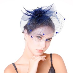 Dames Glamour Feather/Fil net avec Feather Chapeaux de type fascinator (196154637)