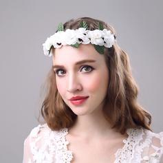 Senhoras Bonito Flor de seda Tiaras