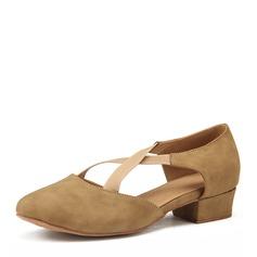 Women's Nubuck Heels Practice Dance Shoes