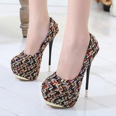 Frauen Stoff Stöckel Absatz Absatzschuhe Plateauschuh mit Andere Schuhe