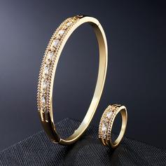 Ladies' Exquisite Copper/Zircon Jewelry Sets