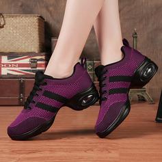 Женщины ткань Танцевальные кроссовки Современный Джаз Танцевальные кроссовки Обувь для танцев