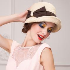 Señoras' Especial Verano Papiro con Bowknot Sombrero de paja