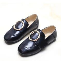 девичий Закрытый мыс Loafers & Slip-Ons дерматин Плоский каблук На плокой подошве с пряжка