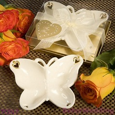 Porcelain Butterfly Candy Dish and Candle Holder