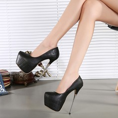 Femmes Similicuir Talon stiletto Escarpins Plateforme chaussures
