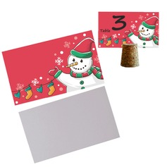 50pcs/set Snowman Blank Cards DIY New Year Party Decoration Materials - 9 x 5.5 cm