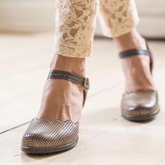 Femmes Similicuir PU Talon plat Escarpins avec Boucle chaussures