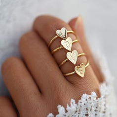Brev Legering Kvinnor Mode Ringar (Säljs i ett enda stycke)