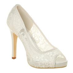 Women's Lace Stiletto Heel Peep Toe Platform Sandals (047066876)