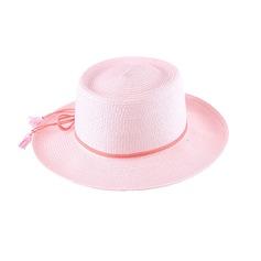 Dames Charmant/Simple Raphia paille avec Bowknot Chapeau de paille