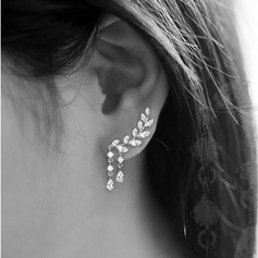 Brillant Alliage/Strass Dames Boucles d'oreilles (011129644)