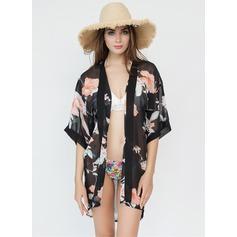 Blommig Lättvikt/attraktiv Beach Poncho