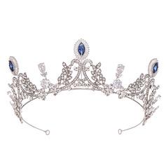 Dame Romantisk Legering Tiaraer med Rhinsten/Venetiansk Perle