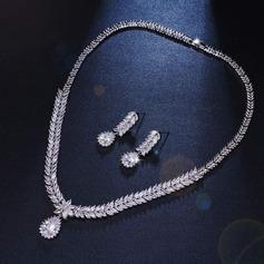 Ladies' Nice Alloy/Zircon Cubic Zirconia Jewelry Sets For Bride/For Bridesmaid