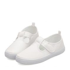 Unisexe Bout fermé Toile Toile talon plat Chaussures plates Sneakers & Athletic avec Velcro