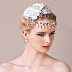 Elegant Konstsilke/Spetsar Panna smycken